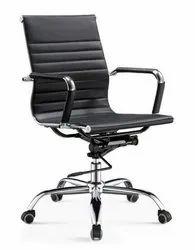 Black sleek Chair medium back