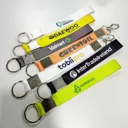 Customised fabric keychains