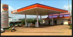 Iron Fabricated Indian Oil Petrol Pump Canopy Fabrication Service
