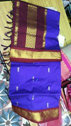 Handloom produced Party Wear Silk Cotton Sarees, 6.3 m (with blouse piece)