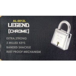 Stainless Steel AL-0012L Single Door Lock, For Doors, Chrome