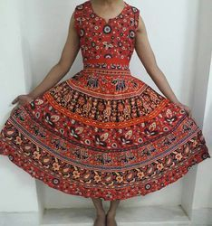 Mandala Cotton Maxi Dress