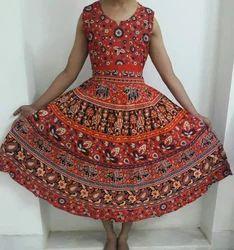 Mandala Cotton Maxi Dress
