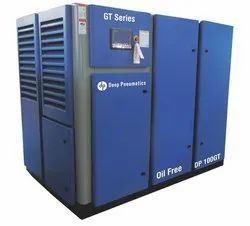 30 to 150 HP Oil Free Screw Air Compressor,  Discharge Pressure: 8 To 10 Bar