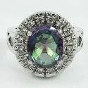 Bloom Fashion Labradorite Gemstone Silver Ring