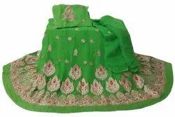 Green Half Pure Rajputi poshak F122, Size: Free