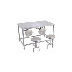 Stainless Steel Silver SS Dining Table, Size: 48 X 28 X 32 Inc, Size (Feet): 48 X 28 X 32 Inch