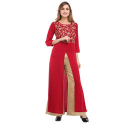 Cottinfab Embellished Kurta and Palazzo Set