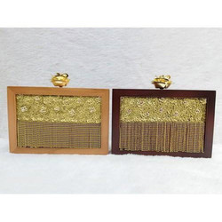 Wooden Handwork Zardosi Clutch Box