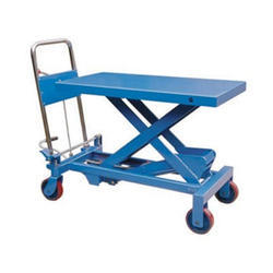 Mild Steel Hydraulic Platform Table Trolley, Model Name/Number: Wpa 350