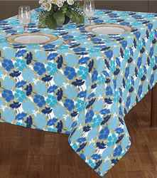 Turquoise Print Table Cloth
