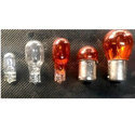 Glass White And Red Amber Bulb