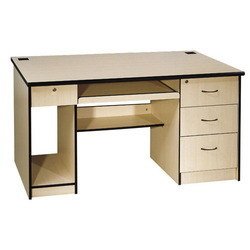 Wooden 4 Drawer Computer Table For School U0026 Offices