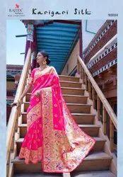 Thankar Wedding Wear Designer Pure Paithani Silk Latest Saree, 5.5 m (Separate Blouse Piece)