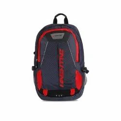 Hashtag Ninja Polyester Blue Travel/School/College/Casual/Laptop Backpack (Grey, Red)