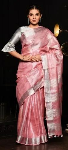 find lowest price hot product best shoes Pure Tissue Linen Sarees