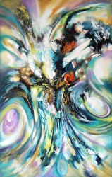 Abstract Acrylic Painting, Interior Decor.
