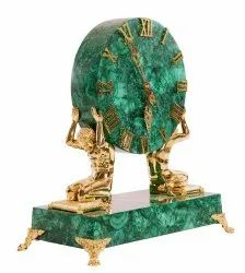 Malachite Bronze Decorative Watch
