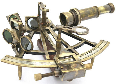 Vintage Style Path Finder Marine Sextant Tool Room Decor Brass Sextants Antiques Durable Service Maritime Antiques