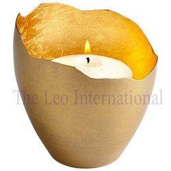 Designer shape decorative Iron Votive Holder golden color