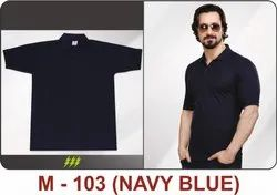M-103 Navy Blue Polyester T-Shirts