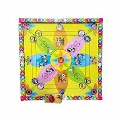 Wood Multicolor Kids Carrom Board, Size: 20x20 Cm