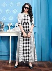 Weaving Rayon Designer Kurtis Collection