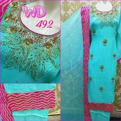 Georgette Part Wear Suits W-492