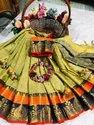 Rich Cotton Silk With Emboss Look Saree With Running Blouse
