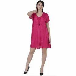 Viscose Plain Skavij Short Sleeve V Neck Pink Womens Top