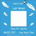 Cement Roof Tile White Feet