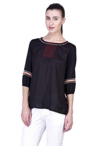 f571621540b 3 4th Sleeve Party Wear Ladies Designer Top