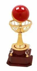 Attractive Metal Globe Trophy
