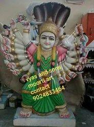 Marble Saptashrungi Mata Statue