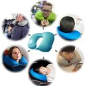 Kawachi Inflatable Air Hand Pump Compact Travel Neck Pillow ,Comfortable U-Shape Support Cushion
