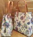 Printed Tote Handbag