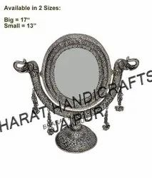 White Metal jewellery Mirror