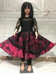 Wedding Wear Girl Black And Red Party Wear Dress