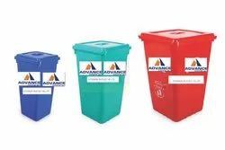 Hdpe Green Blue Red Yellow Garbage Bucket with Flat Lid
