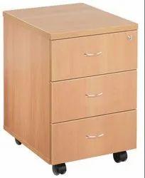 Brown, Grey Regal 3 Drawer Mobile Pedestal, Size: 450 X 450 X 650, Size/Dimension: 450 X 450 X 650