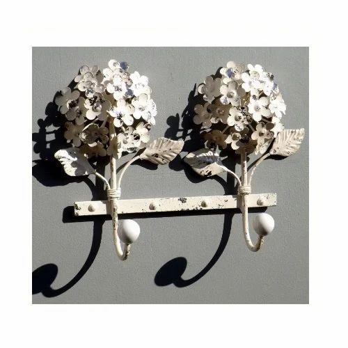 Double Flower Metal Hooks