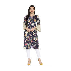 Ladies Flower Printed Kurti