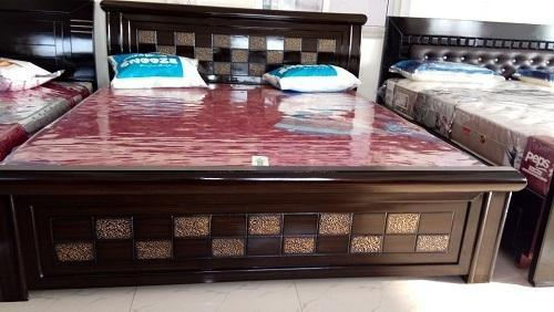 Ar Brand Teak Double Cot Bed