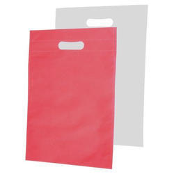 Red And White Non Woven Carry Bag