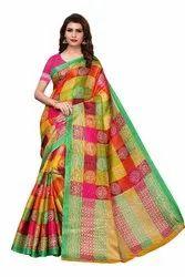Design In Kalamkari Saree