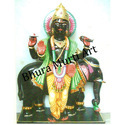 Black Marble Guru Graha Statue