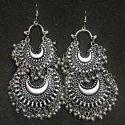 Metallic Silver Wedding Ladies Imitation Earring