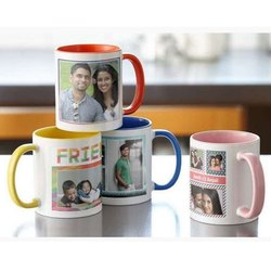 Giftec Creations White Sublimation Photo Printed Coffee Mug, for Gifting Purpose