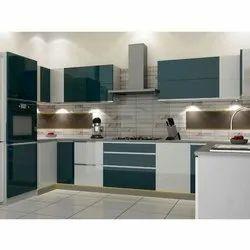 Pvc U Shape Modular Kitchen Kitchen Cabinets Rs 850 Square Feet