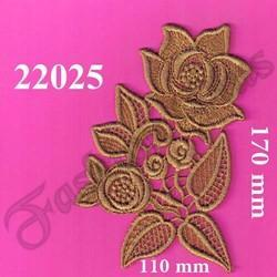 Applique Gold Zari Patch